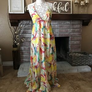 New Alice + Olivia floral long maxi dress sz 12